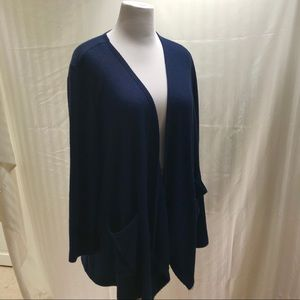 DB Sunday. Blue knit casual cardigan size 1X